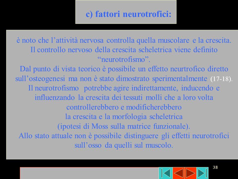 c) fattori neurotrofici: