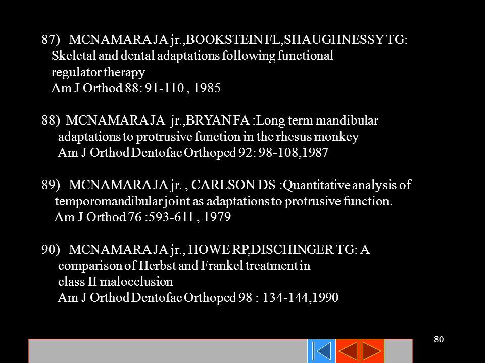 87) MCNAMARA JA jr.,BOOKSTEIN FL,SHAUGHNESSY TG: