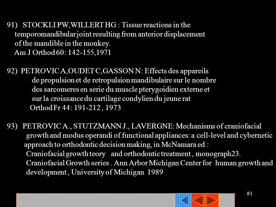 91) STOCKLI PW,WILLERT HG : Tissue reactions in the