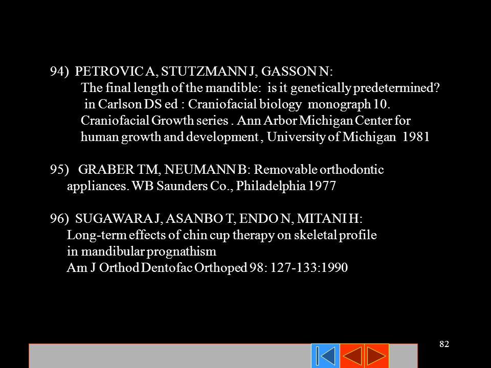94) PETROVIC A, STUTZMANN J, GASSON N: