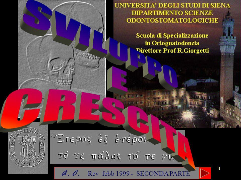 SVILUPPO E CRESCITA A . C . Rev febb 1999 - SECONDA PARTE