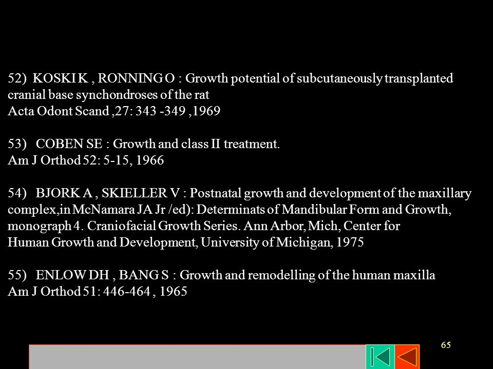 52) KOSKI K , RONNING O : Growth potential of subcutaneously transplanted
