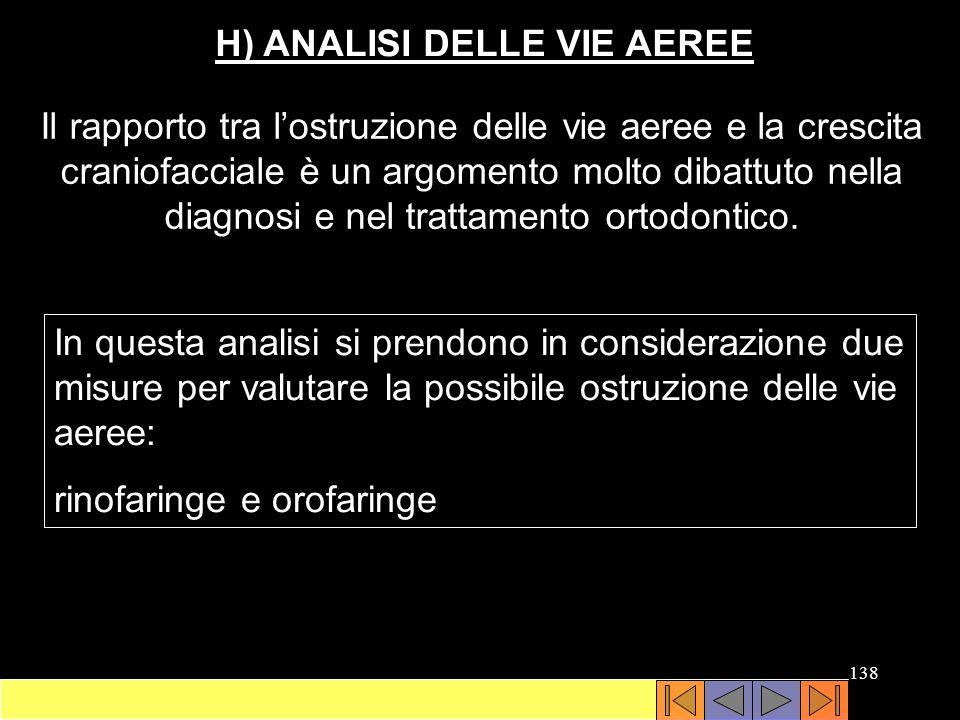 H) ANALISI DELLE VIE AEREE