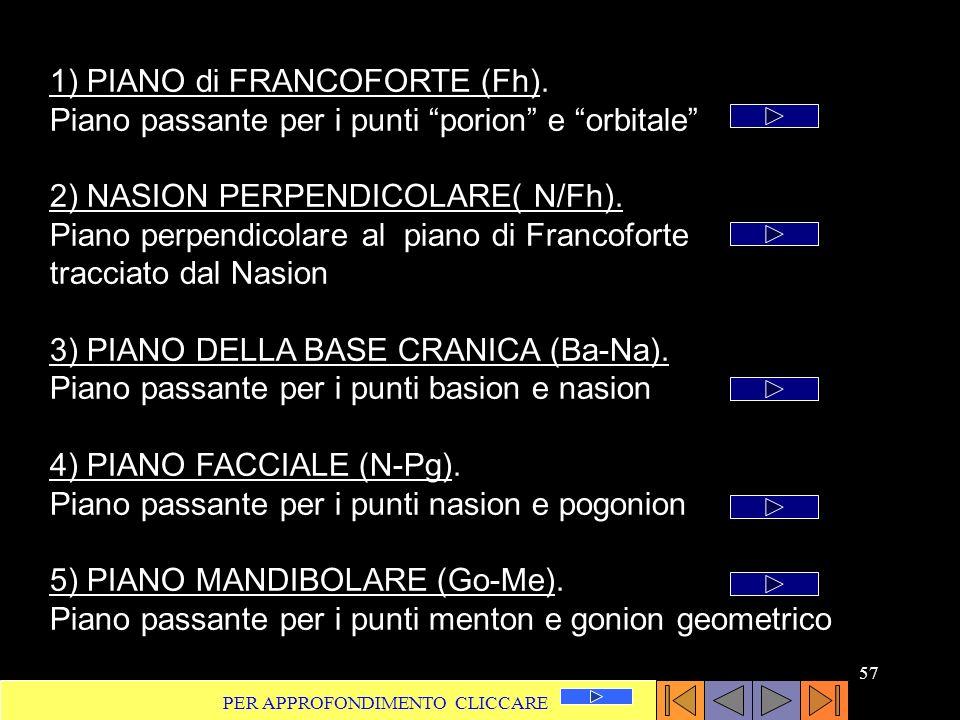 2) NASION PERPENDICOLARE( N/Fh).