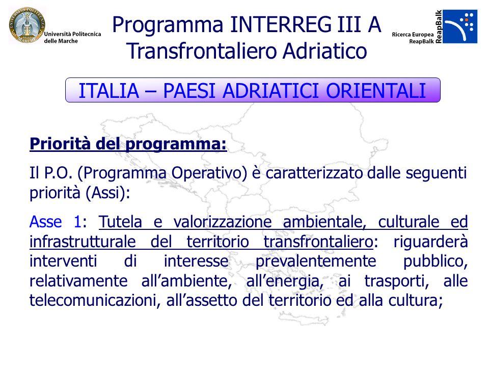 Programma INTERREG III A Transfrontaliero Adriatico