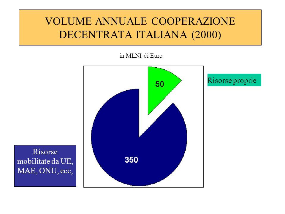 VOLUME ANNUALE COOPERAZIONE DECENTRATA ITALIANA (2000)