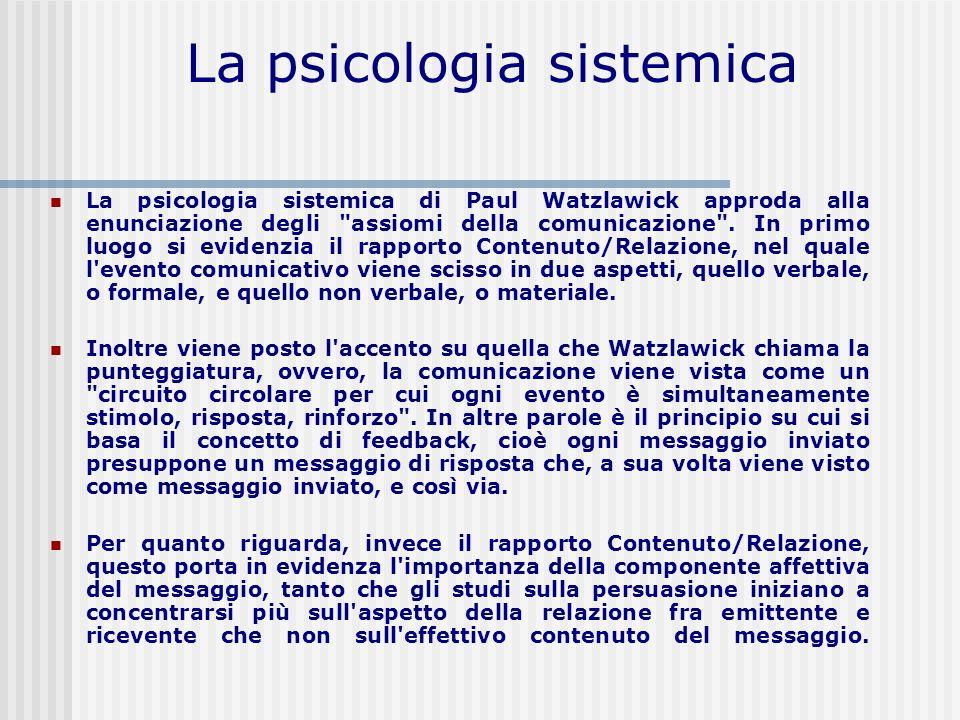La psicologia sistemica