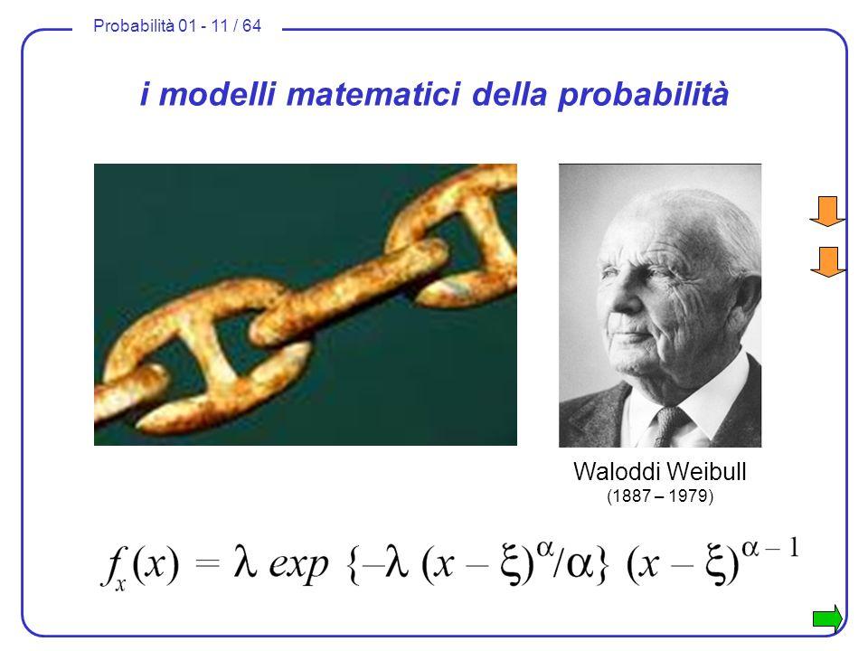 i modelli matematici della probabilità