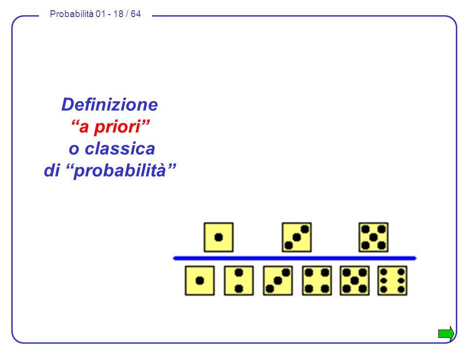 Definizione a priori o classica di probabilità