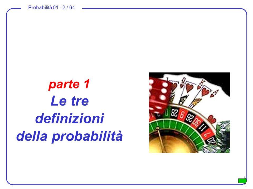 parte 1 Le tre definizioni della probabilità