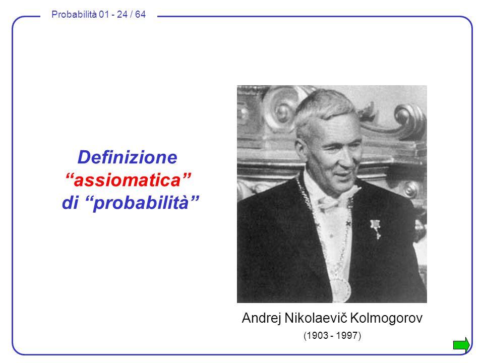 Definizione assiomatica di probabilità