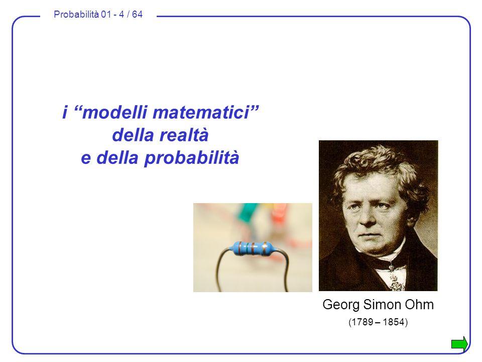 i modelli matematici della realtà e della probabilità