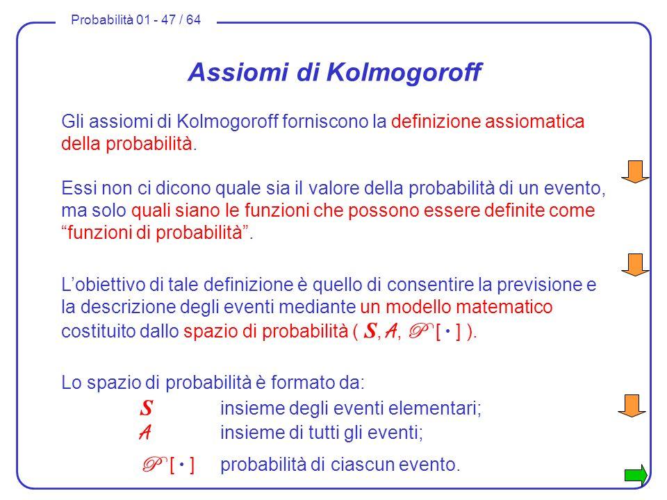 Assiomi di Kolmogoroff