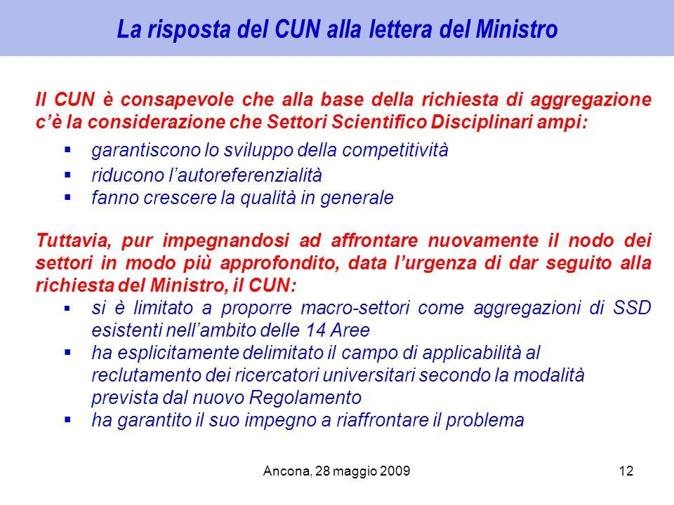 La risposta del CUN alla lettera del Ministro
