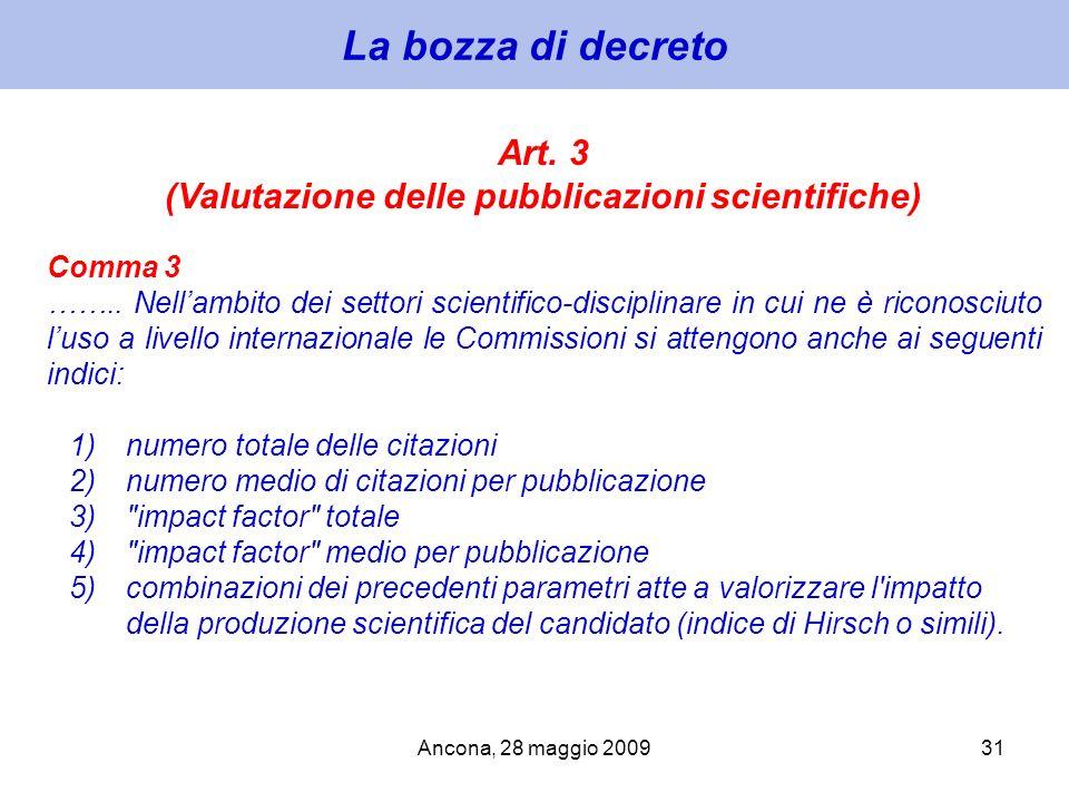 (Valutazione delle pubblicazioni scientifiche)