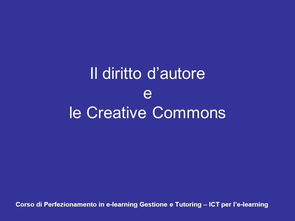 Il diritto d'autore e le Creative Commons