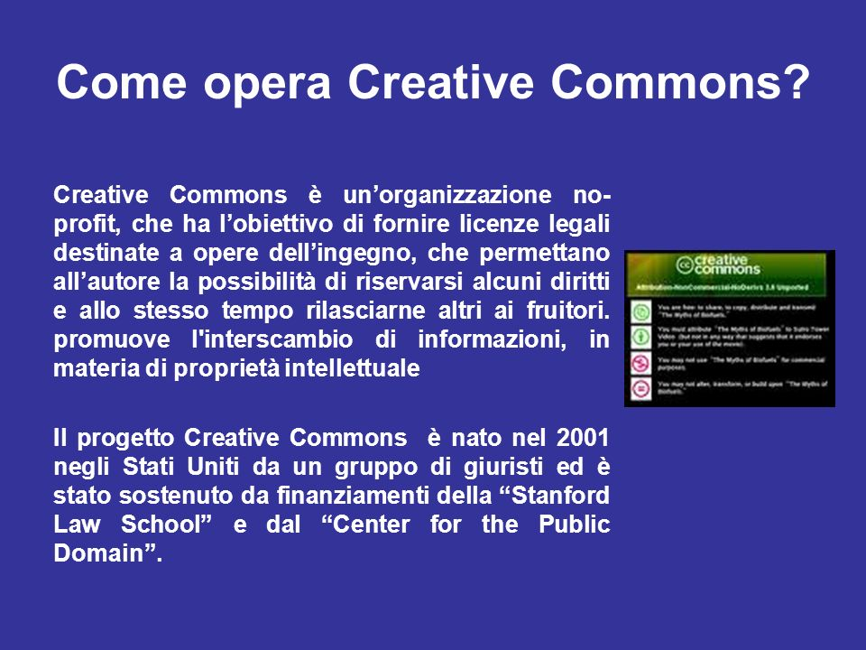 Come opera Creative Commons