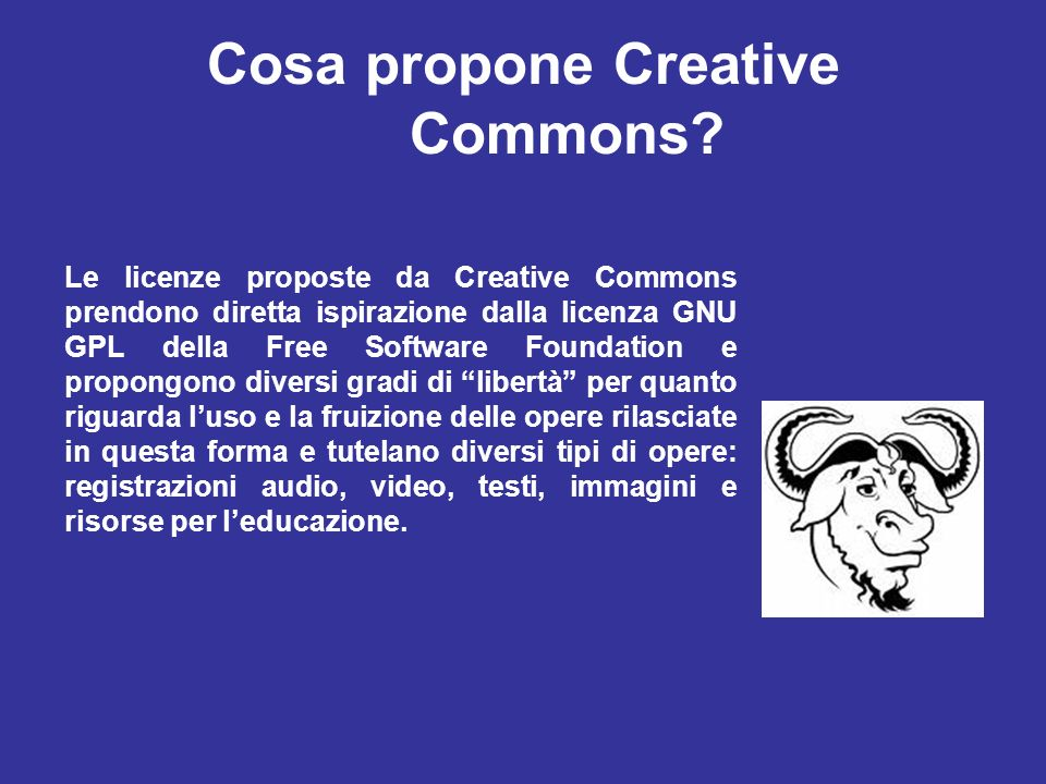 Cosa propone Creative Commons