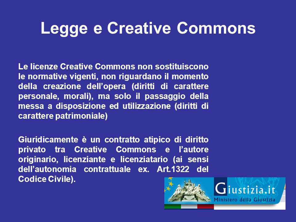 Legge e Creative Commons