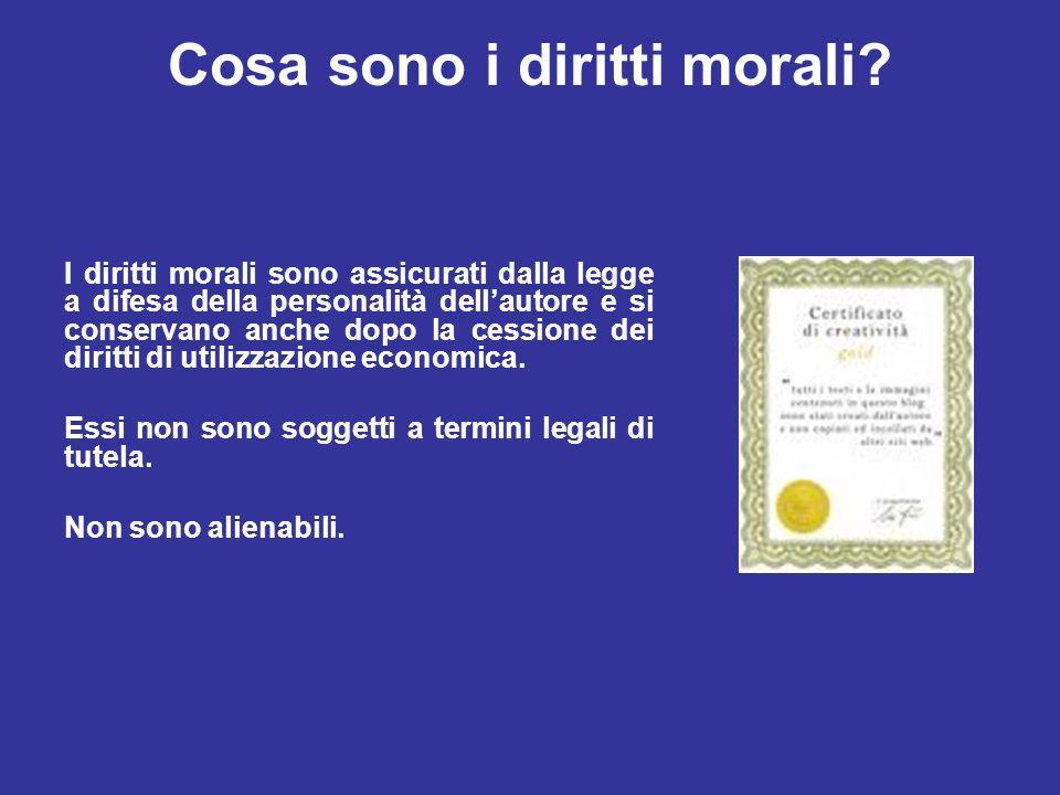 Cosa sono i diritti morali