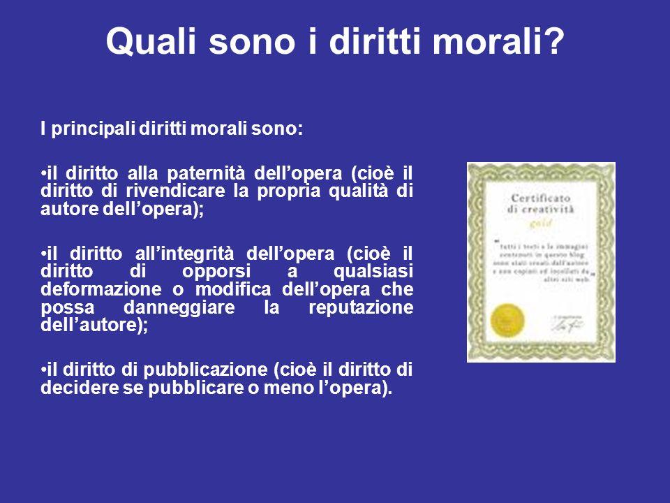Quali sono i diritti morali