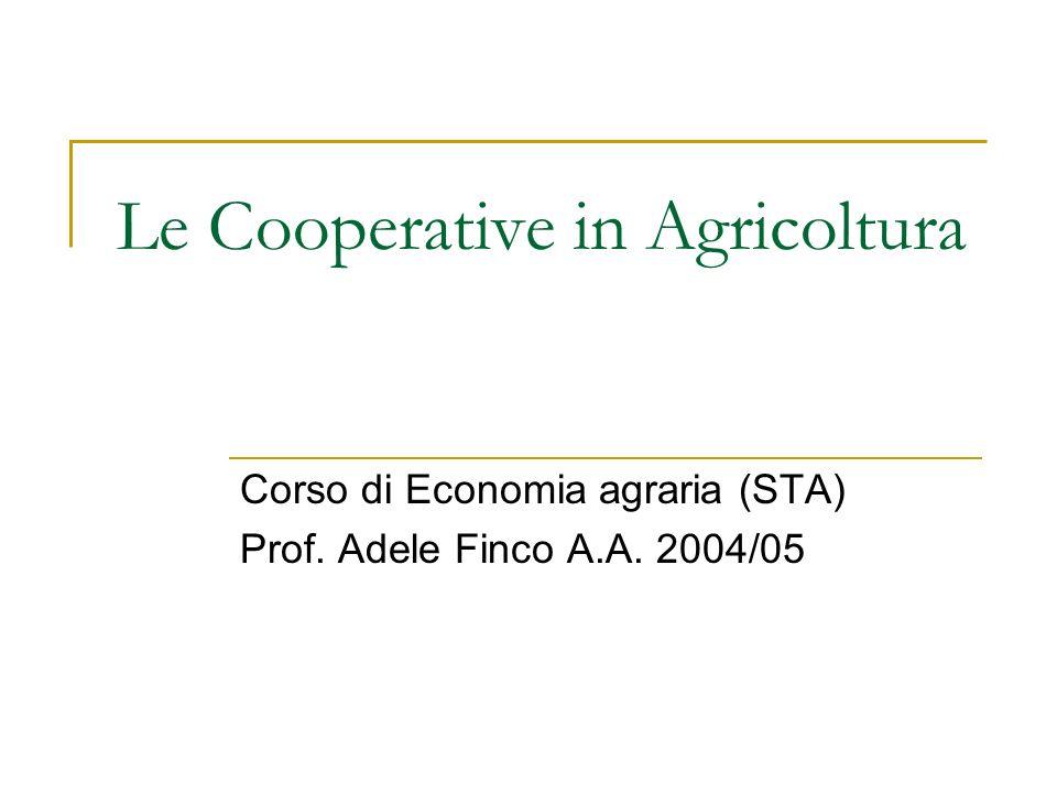 Le Cooperative in Agricoltura