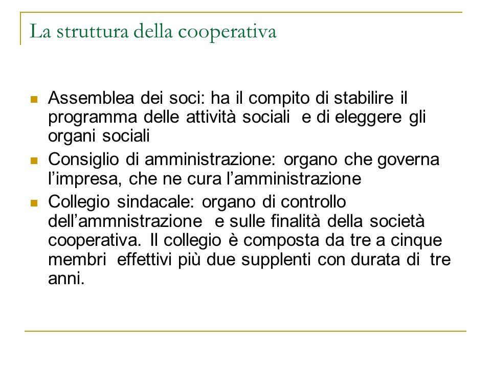 La struttura della cooperativa