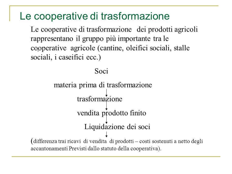 Le cooperative di trasformazione