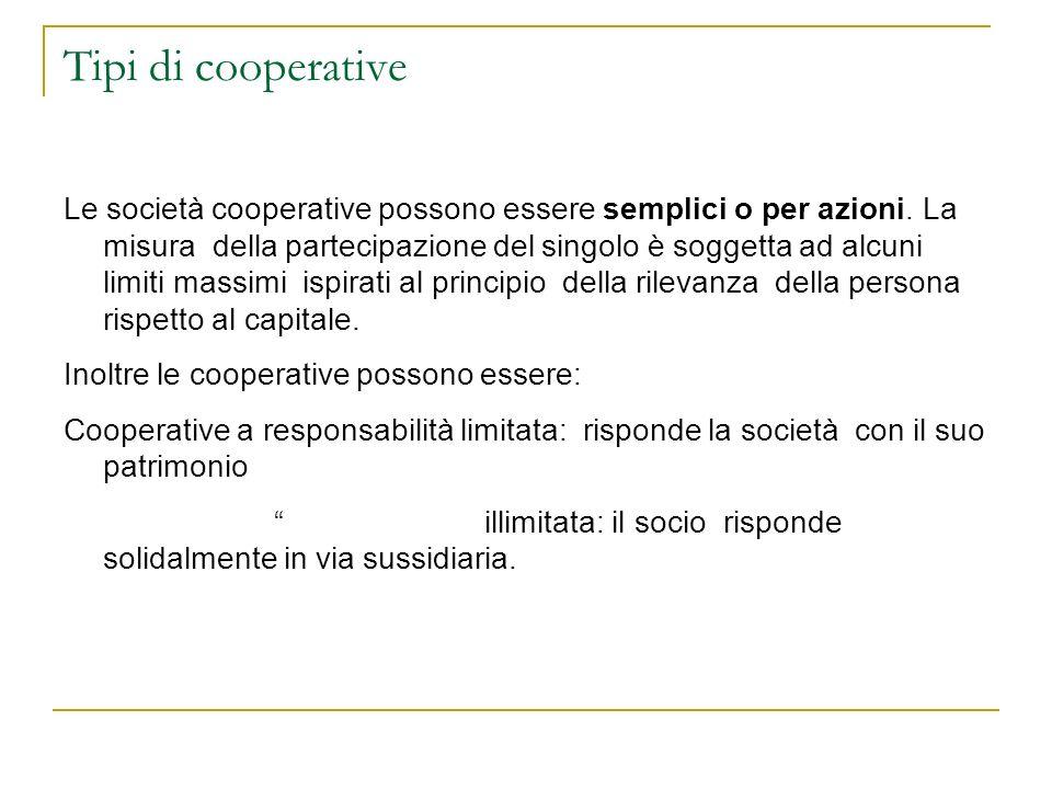 Tipi di cooperative