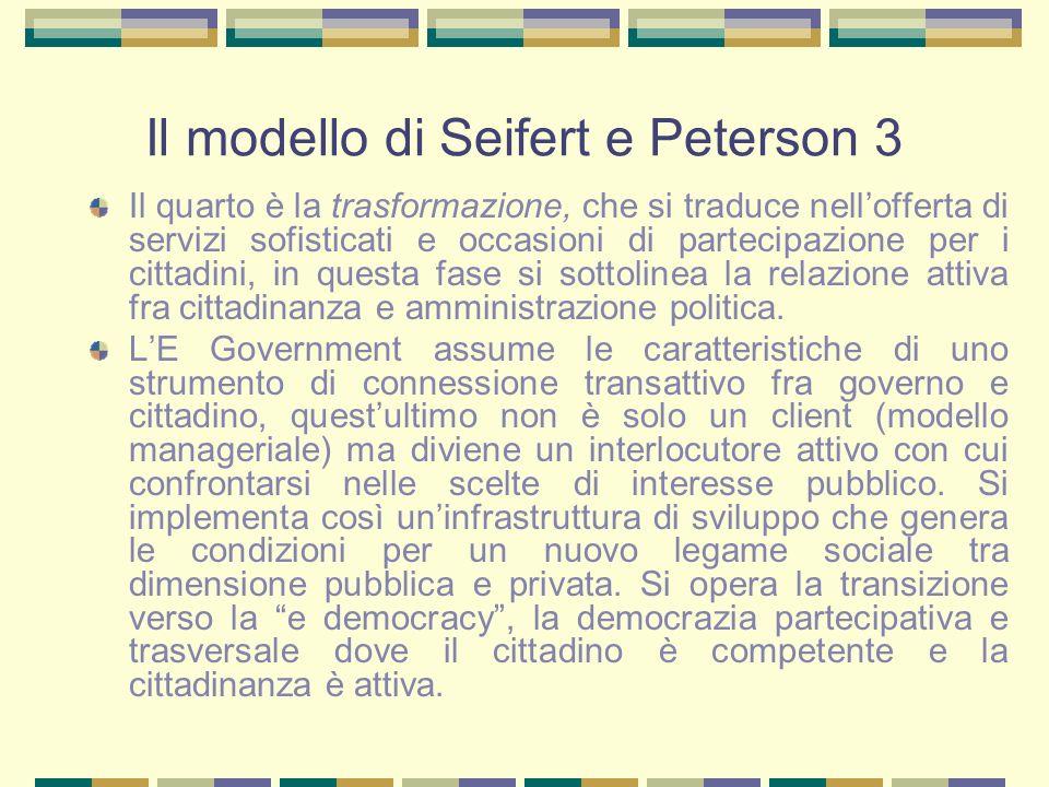 Il modello di Seifert e Peterson 3