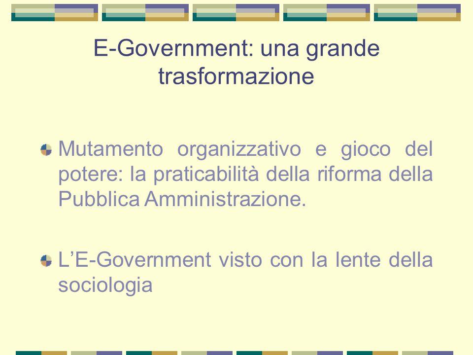 E-Government: una grande trasformazione