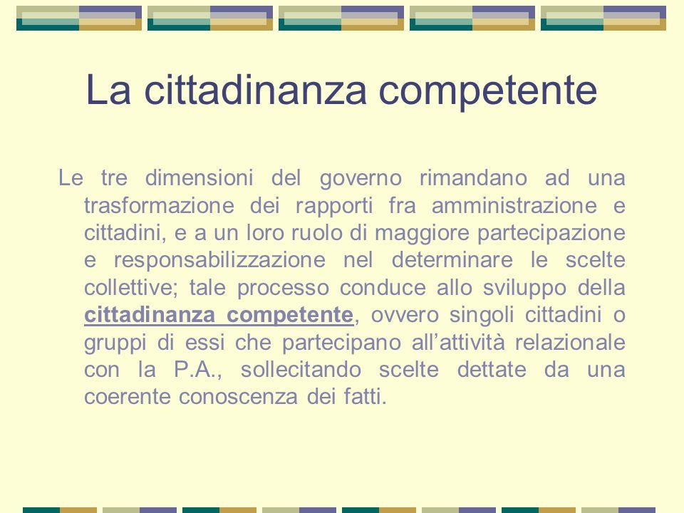 La cittadinanza competente