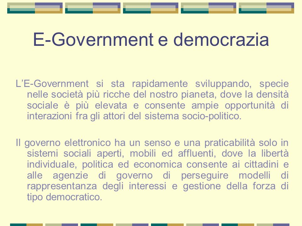 E-Government e democrazia