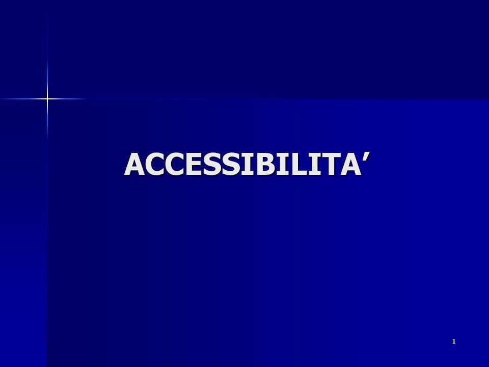 ACCESSIBILITA'