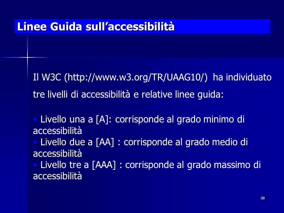 Linee Guida sull'accessibilità