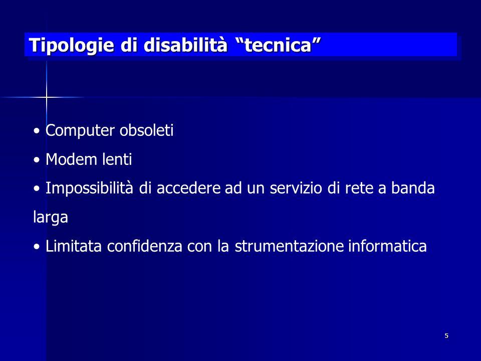 Tipologie di disabilità tecnica