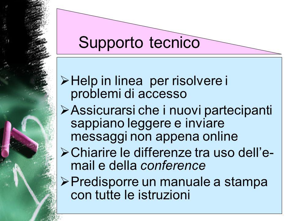 Supporto tecnico Help in linea per risolvere i problemi di accesso