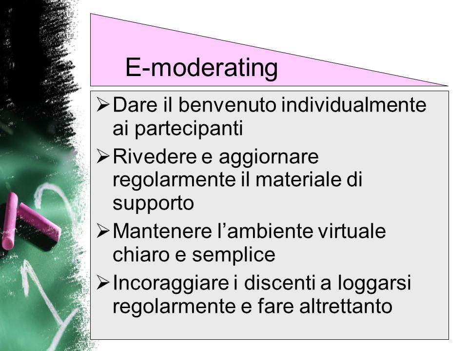 E-moderating Dare il benvenuto individualmente ai partecipanti
