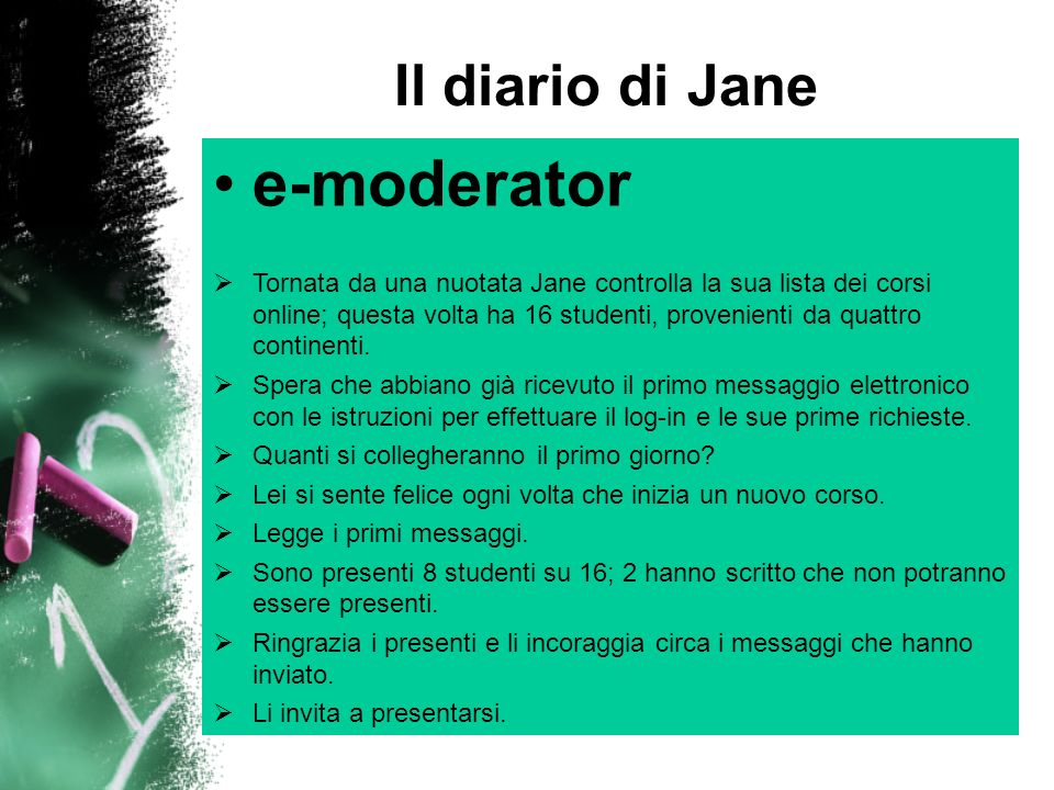 e-moderator Il diario di Jane