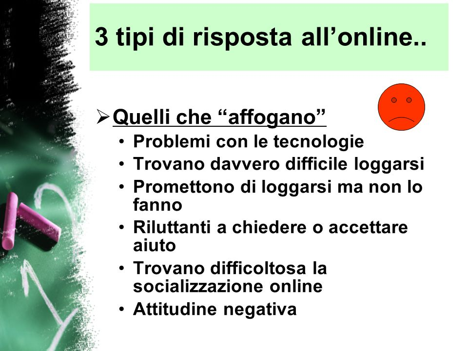 3 tipi di risposta all'online..
