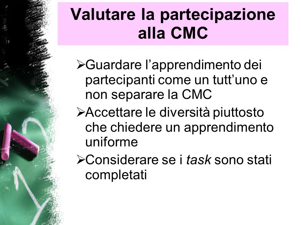 Valutare la partecipazione alla CMC