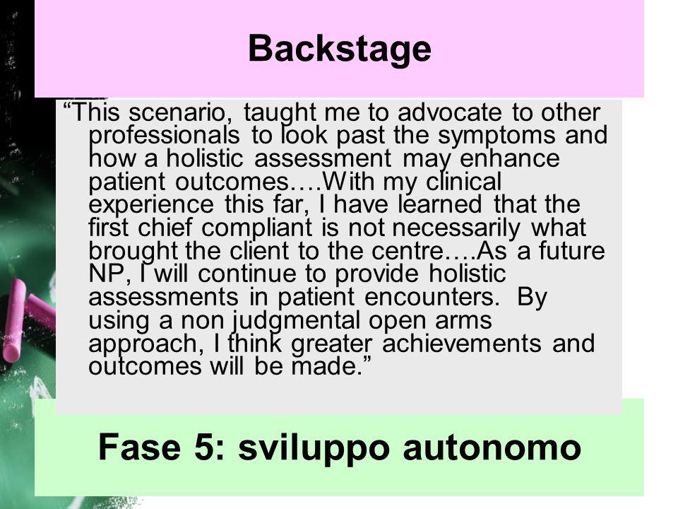Fase 5: sviluppo autonomo