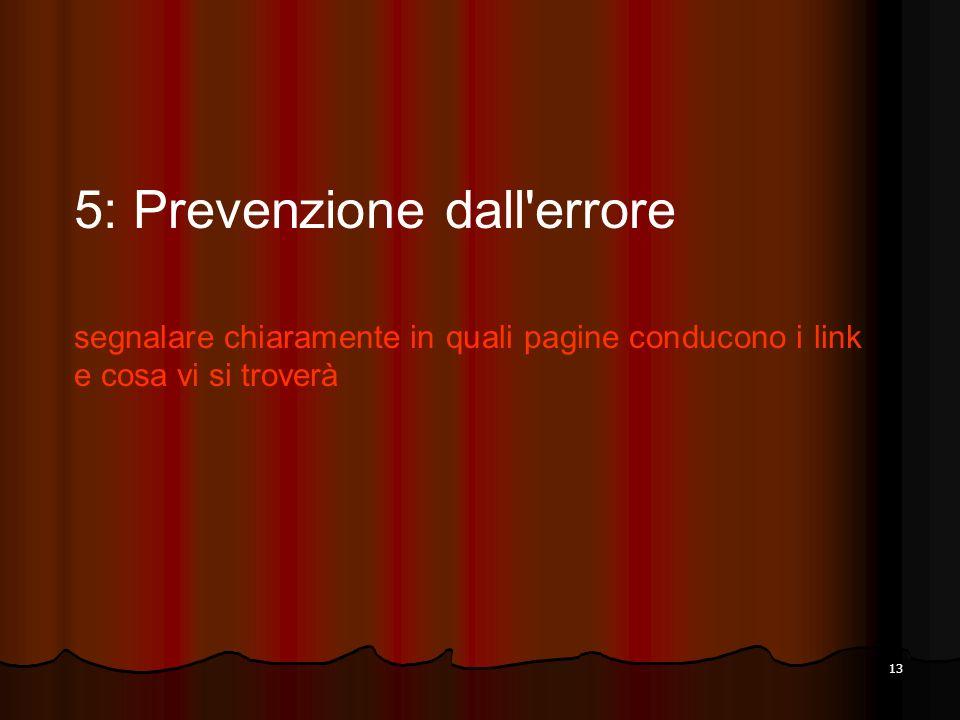 5: Prevenzione dall errore