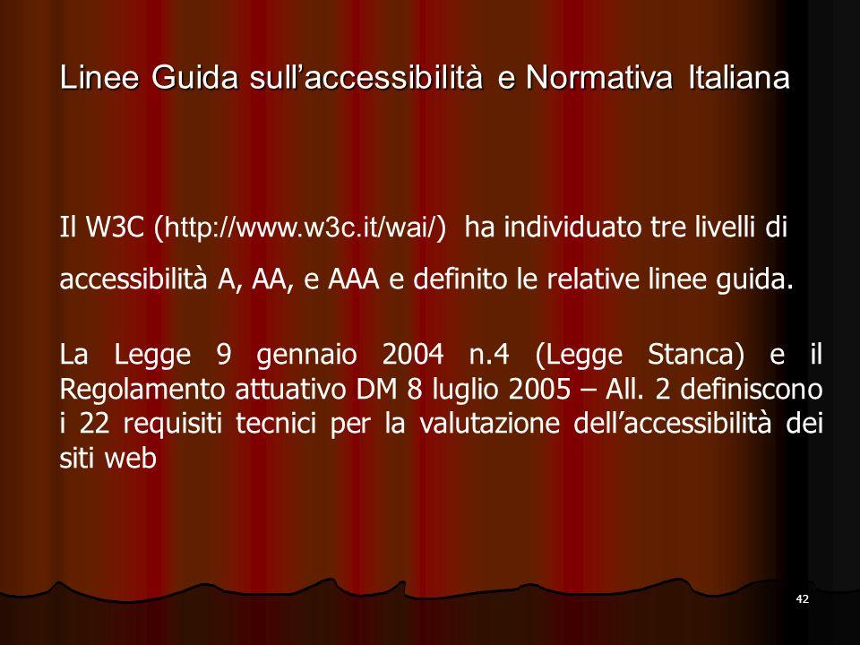 Linee Guida sull'accessibilità e Normativa Italiana