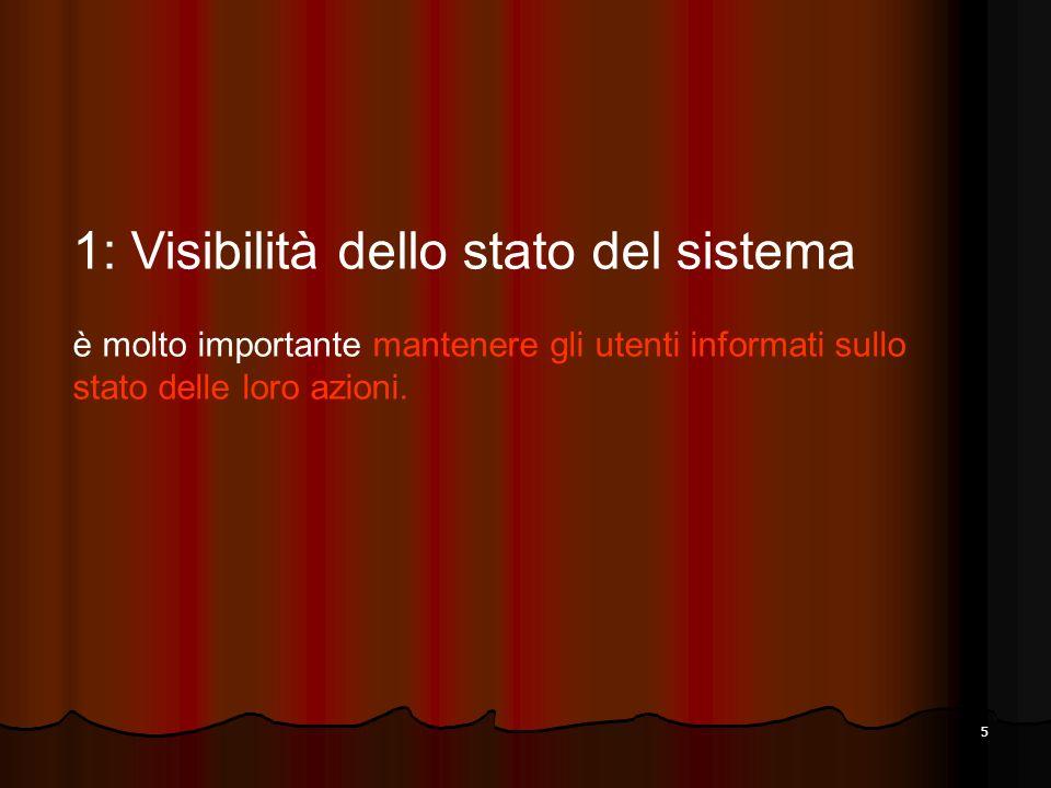 1: Visibilità dello stato del sistema