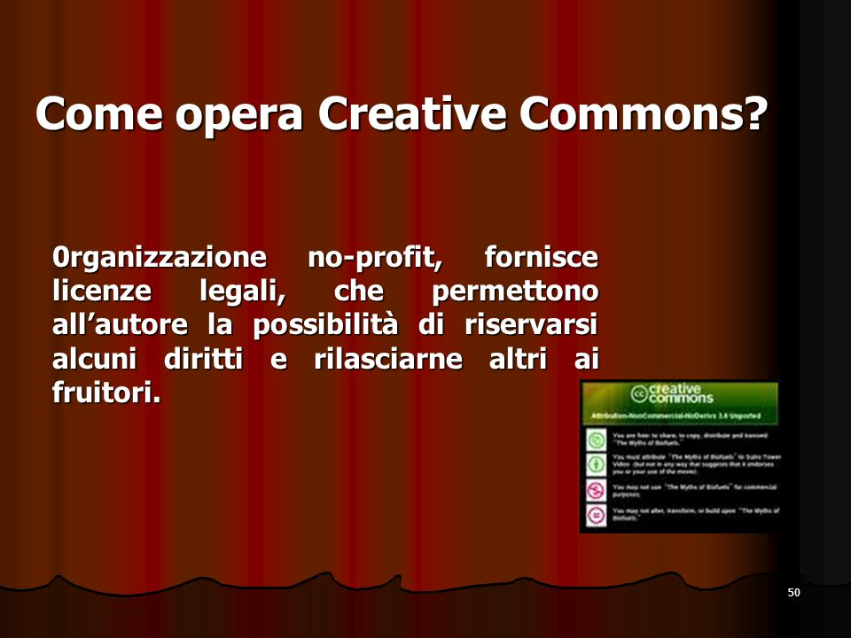 Come opera Creative Commons