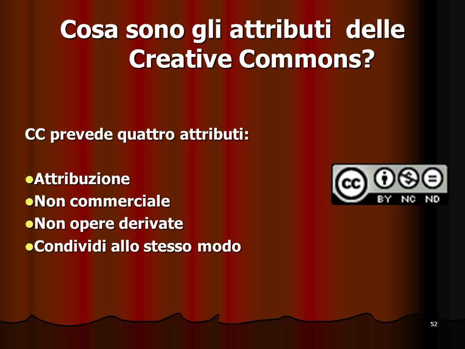 Cosa sono gli attributi delle Creative Commons