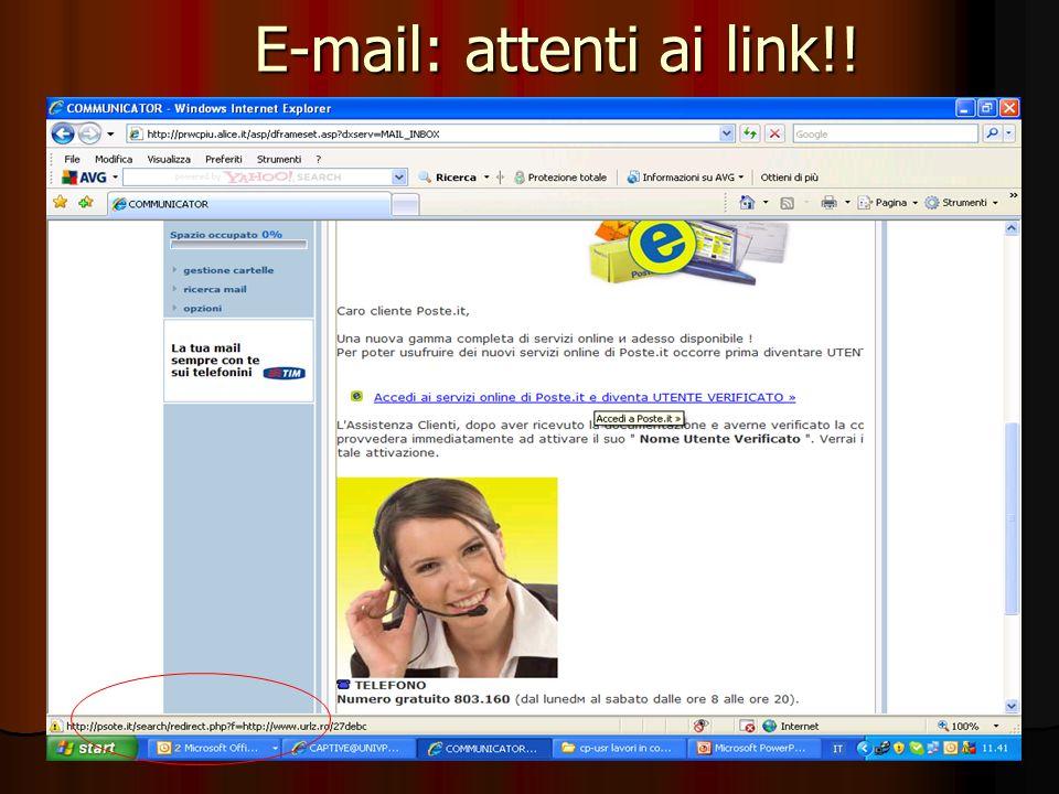 E-mail: attenti ai link!!