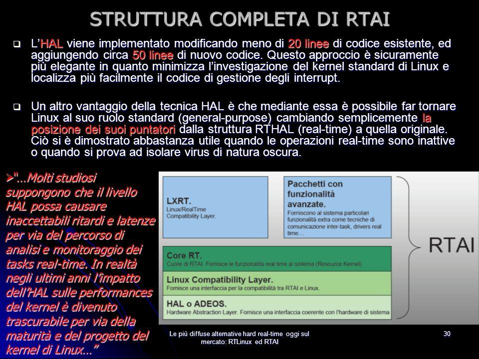 STRUTTURA COMPLETA DI RTAI