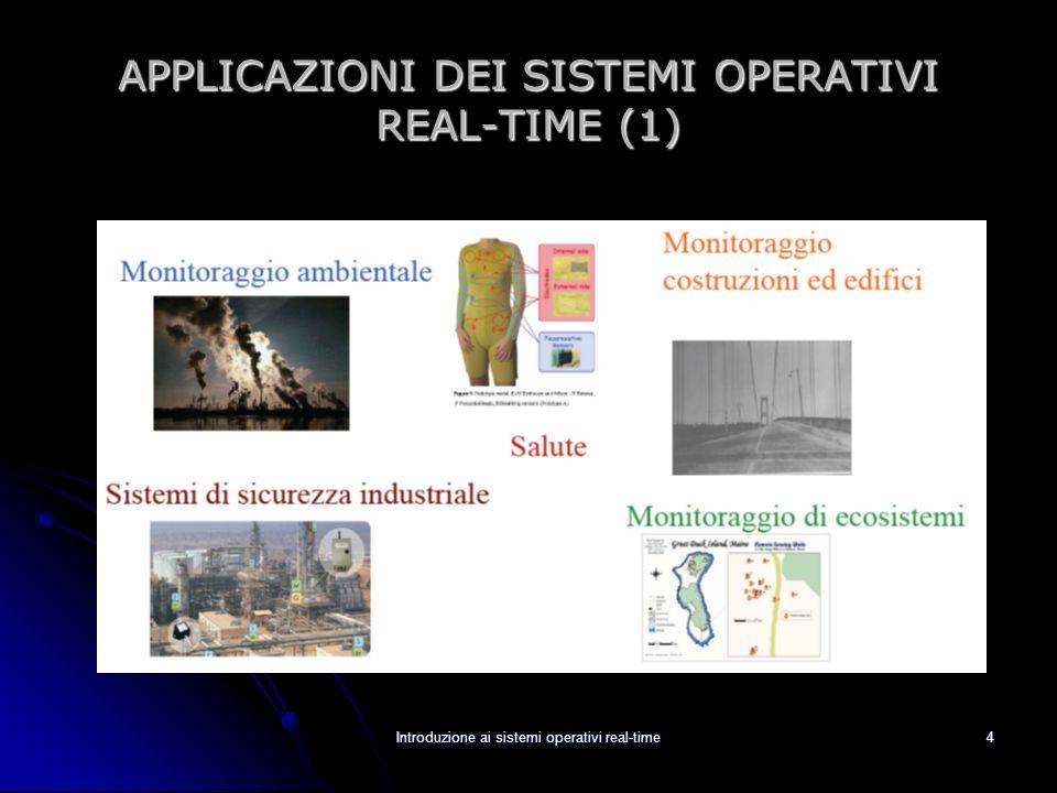 APPLICAZIONI DEI SISTEMI OPERATIVI REAL-TIME (1)